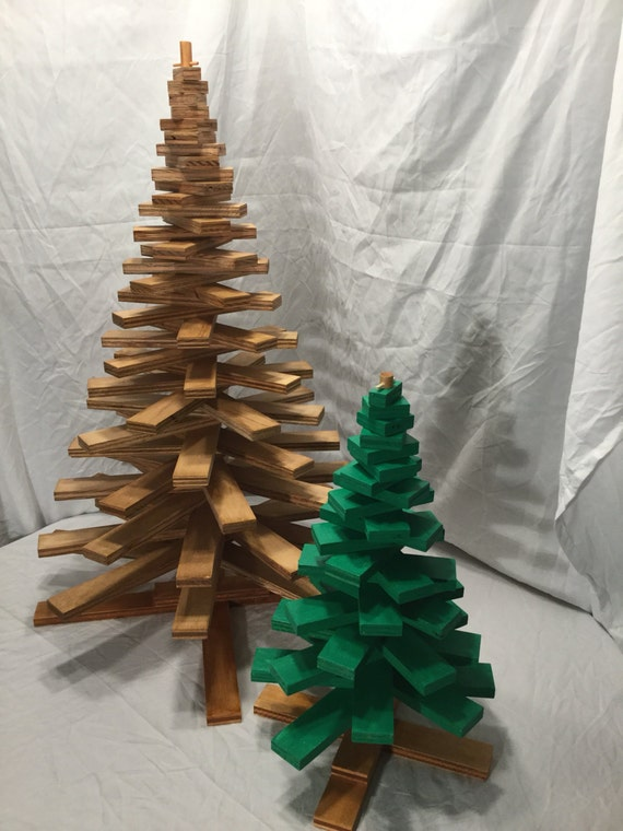 Wooden Spiral Or Spoke Christmas Tree Plans