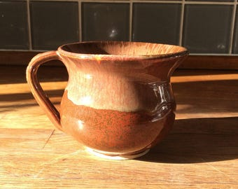 Handmade mug, tea, coffee, wheel thrown pottery, ceramics, Bristol crafts, gift, for her, for him, glaze
