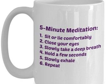 Positive Mug, Healing Meditation Mug, A Positive Affirmation Mug Focuses On Positive Thinking. Get Our 15oz Ceramic Meditation Cup Today!