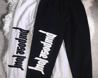 Purpose Tour Justin Bieber Sweatpants Joggers Merch