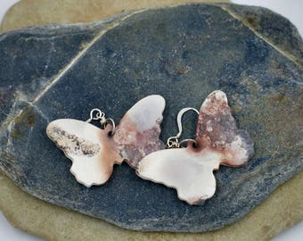 Ceramic saggar fired earrings