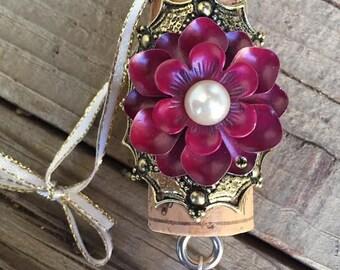 The Sugar Plum wine cork ornament