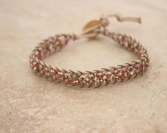 Brown Rope Wrap Bracelet