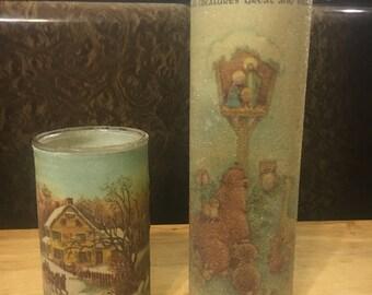 Christmas Pillar Candle Holders