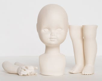 Body Set parts to create a Ceramic antique doll