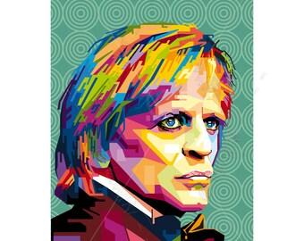 Tribute to Klaus Kinski FRAMED ART, personalized gift, name, pop art, Wall Art, Personalisierter Kunstdruck gift for women gift for men