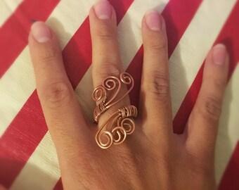 "Copper ""Butterfly Wings"" Ring"