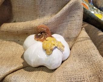 Pottery pumpkin