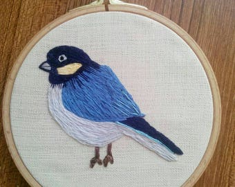 Embroidery Hoop Wall Art- Bird Embroidery decor