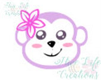 Monkey Face Instant Download * Baby Monkey SVG File * Instant Download File * SVG DXF & Png File * Nursery Sweet download * Monkey Cut File