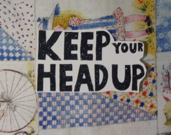 Keep Your Head Up Stickers