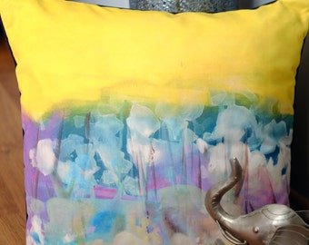 Flowers Art Design Cushion, inspired from the work of Turkish painter Mehmet Ozet (copyrighted production)
