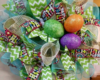 Cute and Colorful Easter Wreath