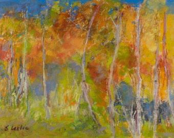 Birches in Motion