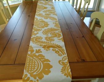 Marigold Hand Print Table Runner
