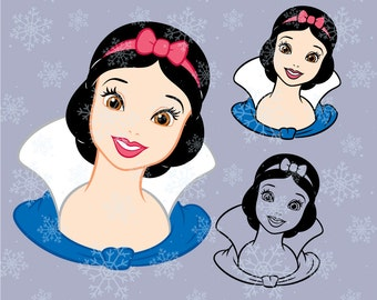 Disney princess Snow White SVG cutting ESP vector instant download