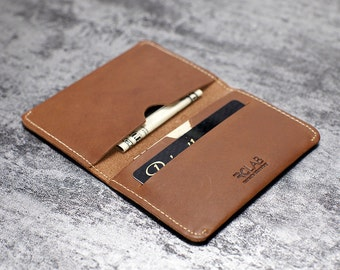 RCLAB designs, Wallet, Leather Wallet, Card holder, Slim wallet, Minimalist Credit Card Wallet, Mens Leather Wallets