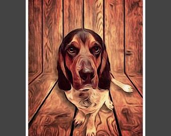 Custom Digital Pet Portrait, Custom Dog / Cat Portrait, Painting from Photo, Custom Portrait, Christmas Gift, Custom Made, Printable Art