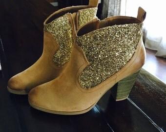 Custom Glitter Ankle Boots