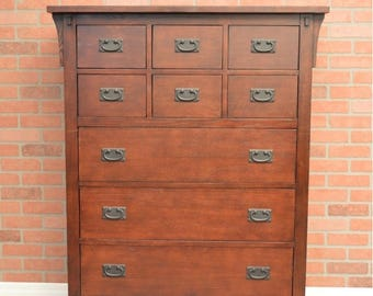 Pick you color! Mission Style Amish style solid wood Chest of Drawers
