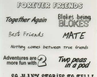 Friends Vellum Quotes Forever In Time Scrapbook Embellishments Cardmaking Crafts