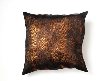 Large Leather Pillow Etsy