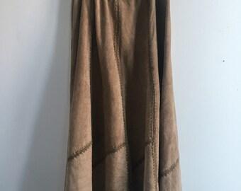 Vintage 70's Leather Skirt