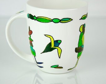 Good mood mugs, coffee mug, Tea Cup, decorative cups, porcelain cup, porcelain mug