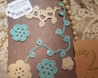 Handmade crochet appliques #7