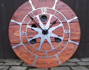 Nautical Cable Reel Clock