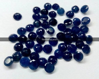 10 pieces 2mm Blue Sapphire faceted round loose gemstone 100% Natural Blue Sapphire UNHEATED & UNTREATED Blue Sapphire faceted gemstone