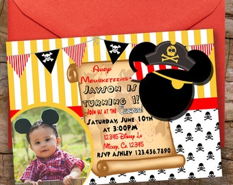 Digital Mickey Pirate Invitation