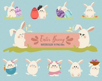 Easter bunny, Easter Rabbit, Easter clipart, Happy Easter clipart