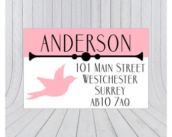 36 x Return address labels, address stickers, Personalised address stickers, Custom address labels, 020
