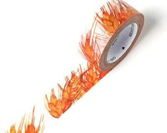 BURNING DAY Japanese Washi Tape, Masking Tape, Planner Stickers,Crafting Supplies,Scraping Booking,Adhesive Tape,Floral Washi Tape