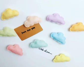 Cloud magnets, fridge magnet, felt magnets, cute magnet, pastel cloud magnets, pack of 3