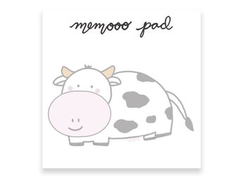 Cow Post Its | Cow Sticky Notes | Memooo pad | Cute and Funny Sticky Notes