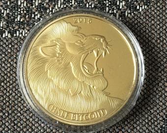 Lion half bitcoin