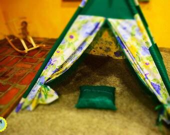 Kids play tent, kids tepee, kids playtime teepee, toddler lodge, playtime teepee, fun kids tepee, sunflower teepee, tipi, tepee, wigwam
