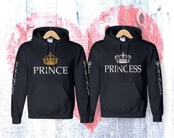 Prince and Prencess couple hoodies  hoodies Sweatshirt Couple  Hoodie High Quality