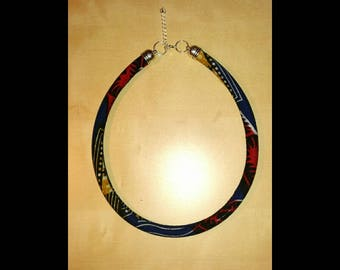 Ethnic necklace fabric wax