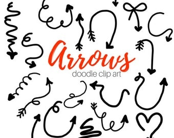 Arrow Clip Art - Doodle Clip Art - Hand drawn clip - drawing clip art Commercial Use