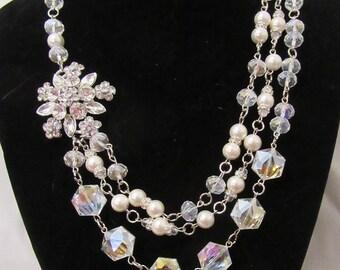 Vintage Pearl & Imperial Crystal Necklaces
