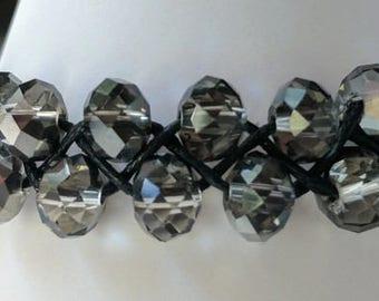 Stackable Bracelet, Boho Bracelet Ideas, Beaded Bracelet, Braided Bracelet, Simple Bracelet, Silver Bracelet, Crystal Bracelet, Gift for Her