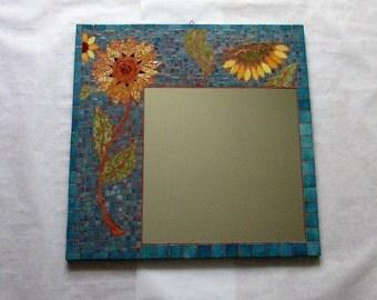 """Mirror mosaic """"Sunflowers"""""""