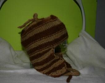 Small Ear Flap Hat Wool