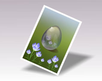 Wall Print Gift Easter Egg, Spring Decor Easter Gift Idea