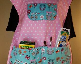 Children's Owl Artist Smock Set