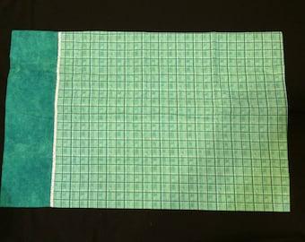 Aqua and Green Pillowcase