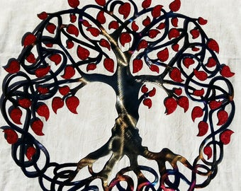 Tree Of Life, Celtic Design - Red leaves, 27,5'' (70 cm)